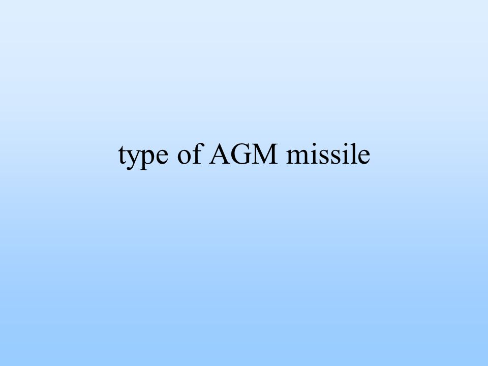 type of AGM missile