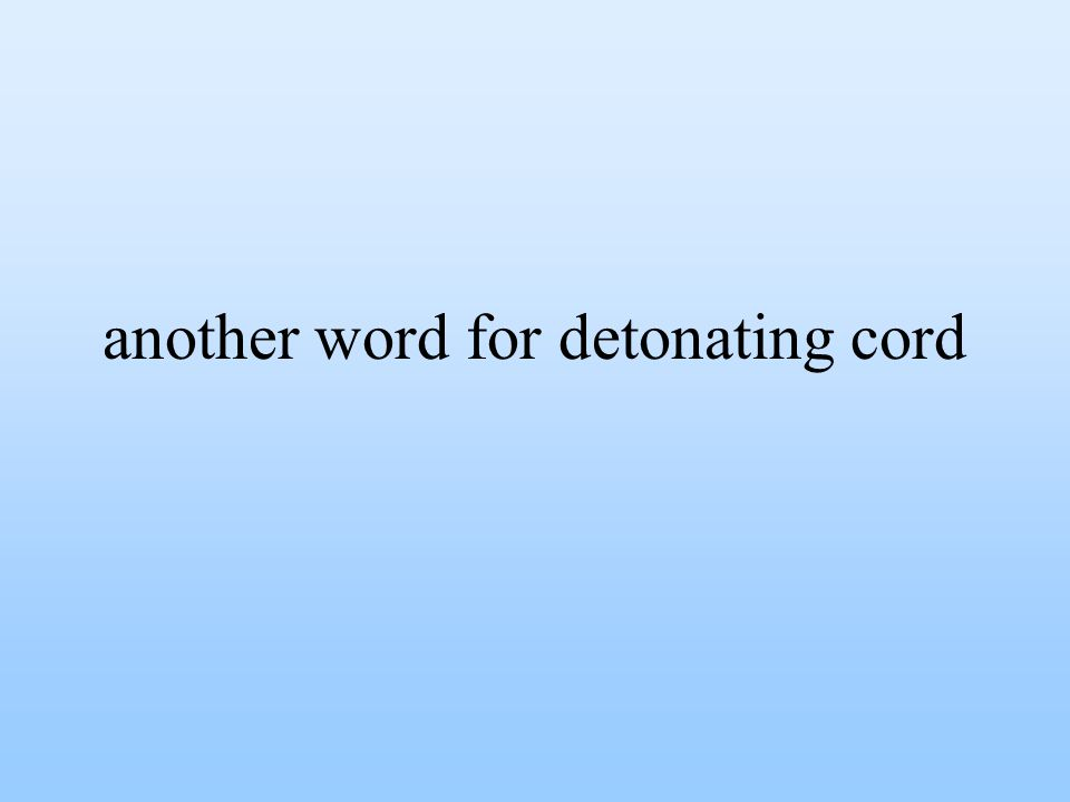 another word for detonating cord