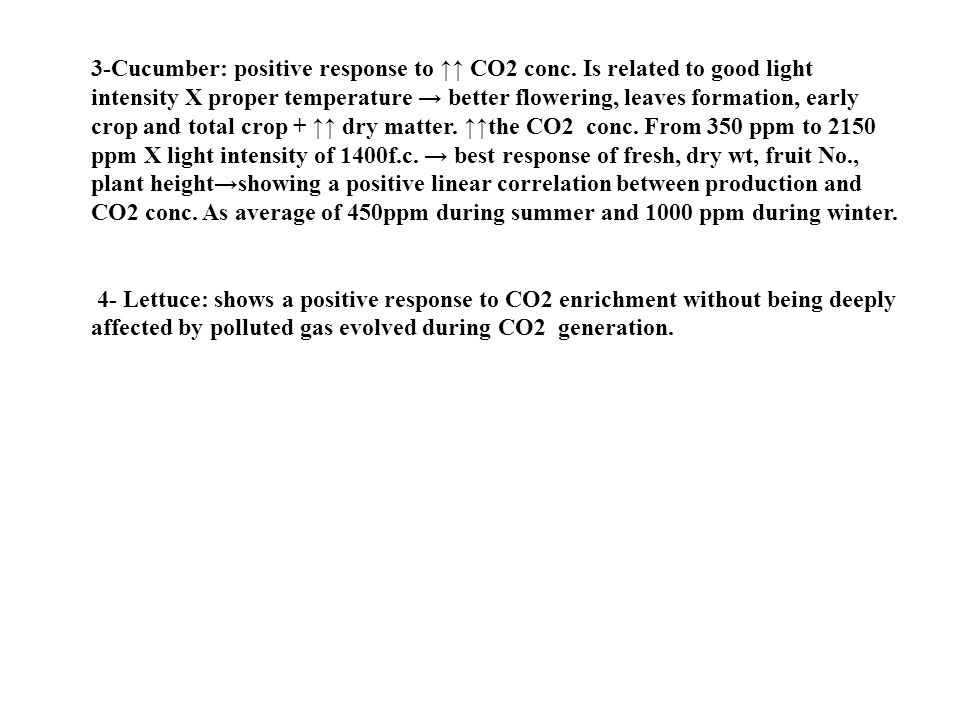 3-Cucumber: positive response to ↑↑ CO2 conc.