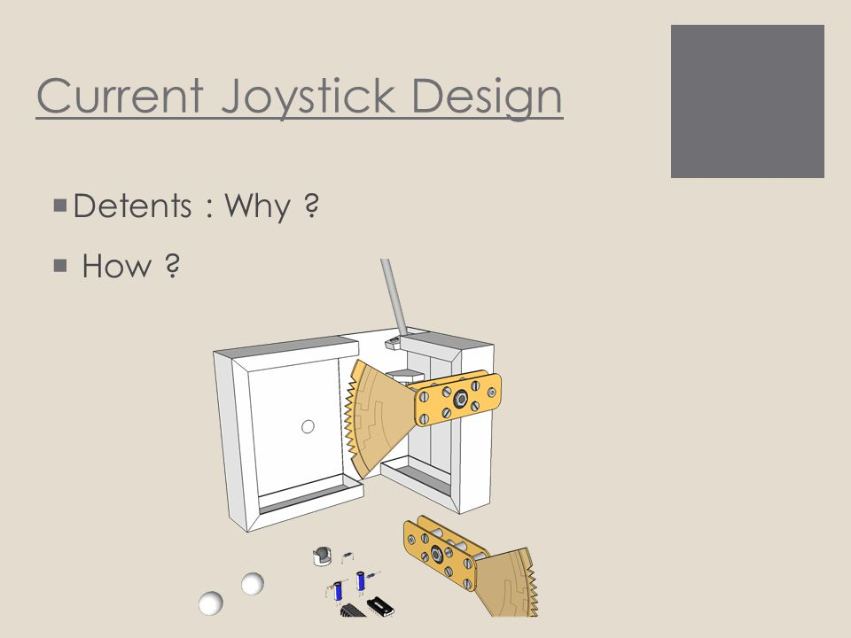 Current Joystick Design  Detents : Why ?  How ?
