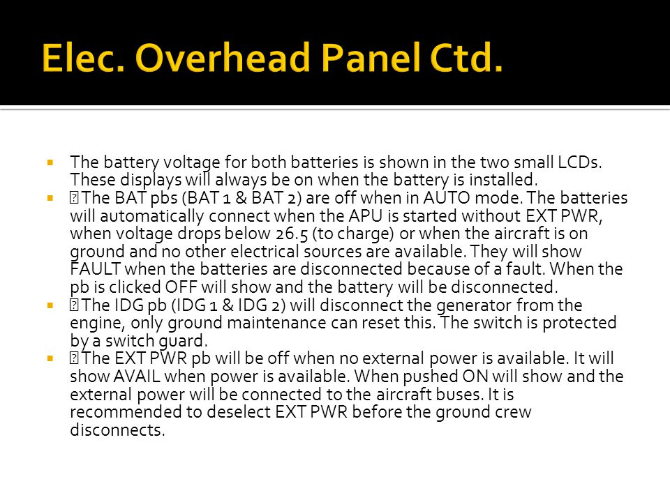  The battery voltage for both batteries is shown in the two small LCDs.