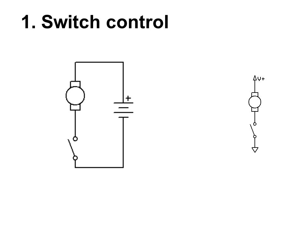 1. Switch control