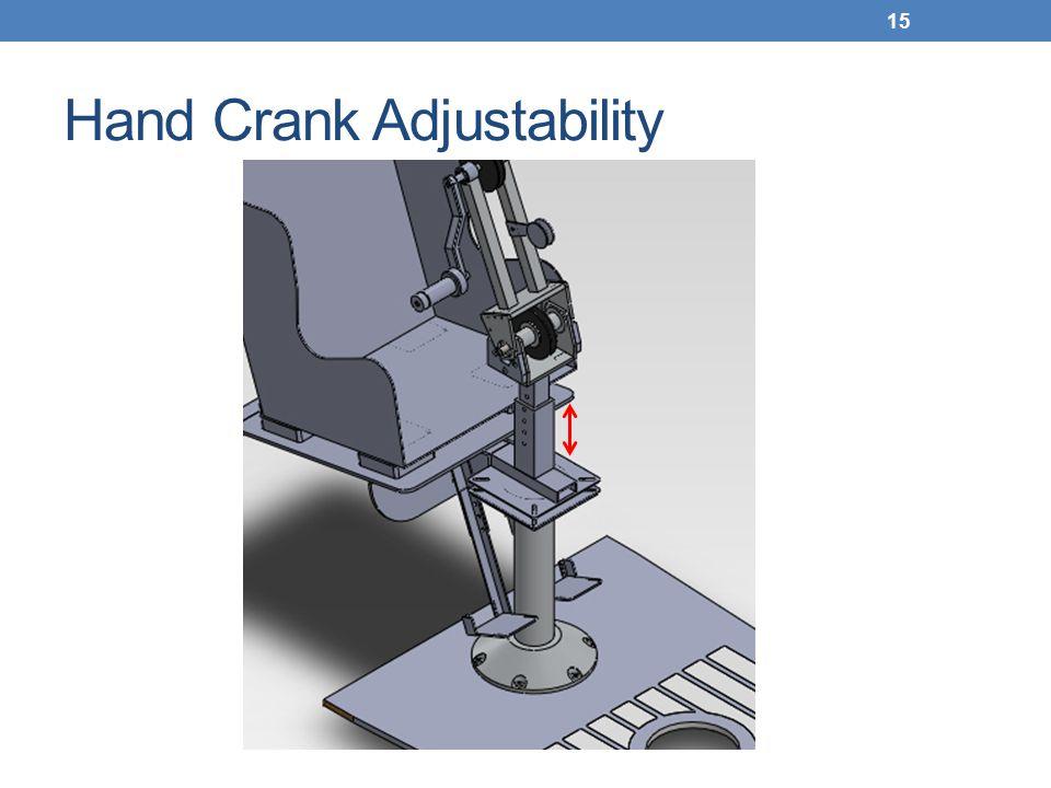 Hand Crank Adjustability 15