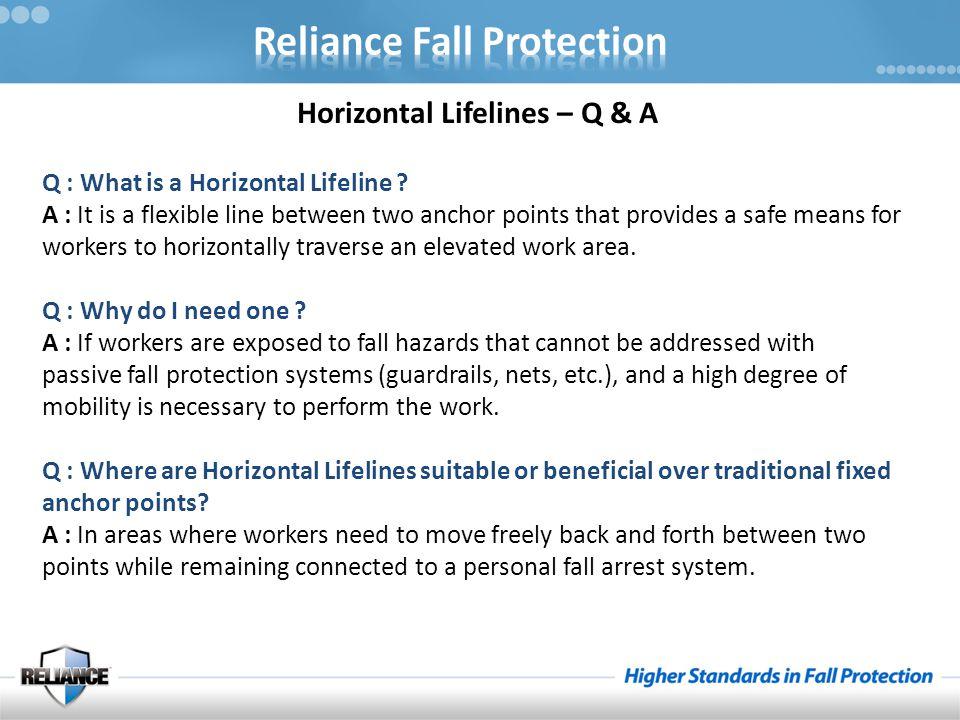 Horizontal Lifelines – Q & A Q : What is a Horizontal Lifeline .