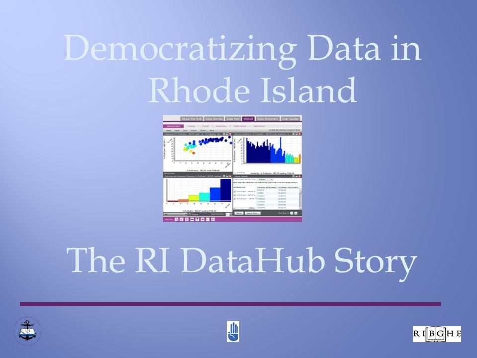 Democratizing Data in Rhode Island The RI DataHub Story 8 1
