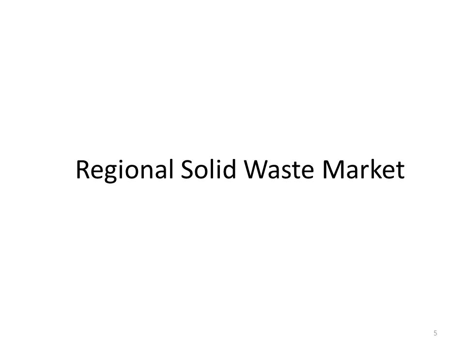 New England Solid Waste Disposal Capacity (Annual Tons) (ME, NH, MA, CT, and RI) Observations: – Current regional waste generation in the 10 million ton range.