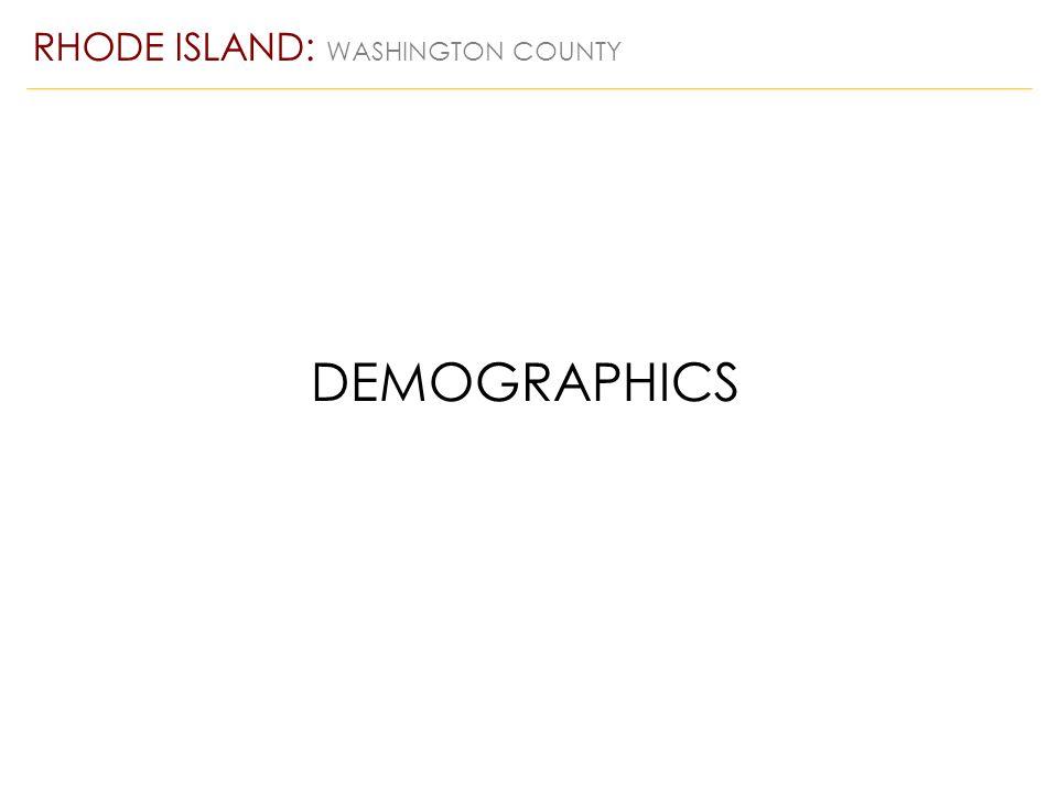 RHODE ISLAND: WASHINGTON COUNTY DEMOGRAPHICS
