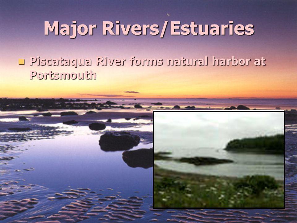 Major Rivers/Estuaries Piscataqua River forms natural harbor at Portsmouth Piscataqua River forms natural harbor at Portsmouth