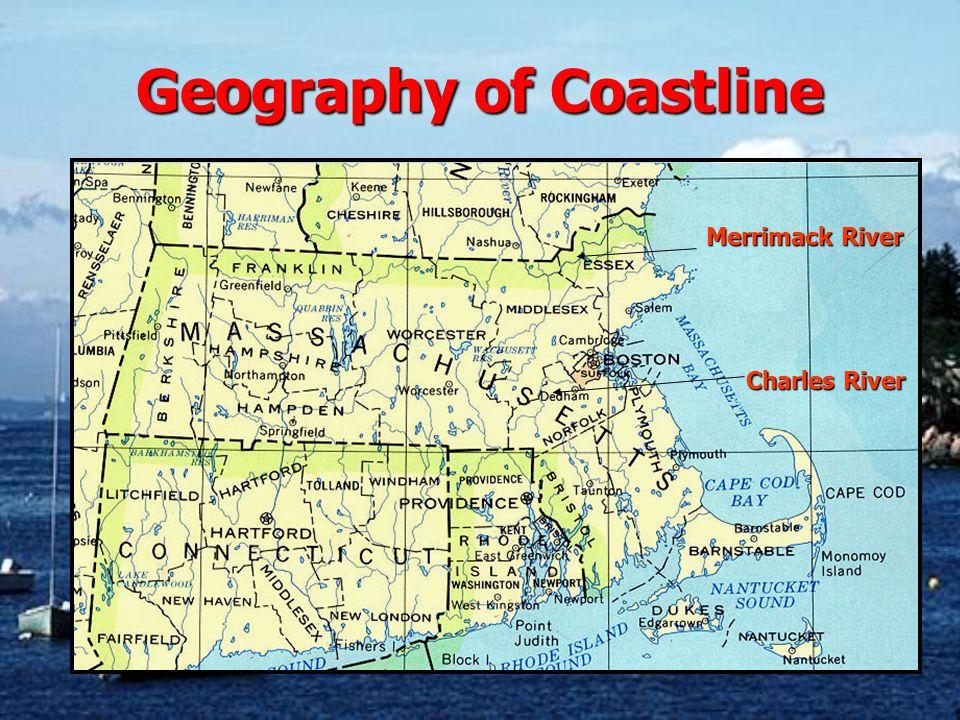 Geography of Coastline Merrimack River Charles River
