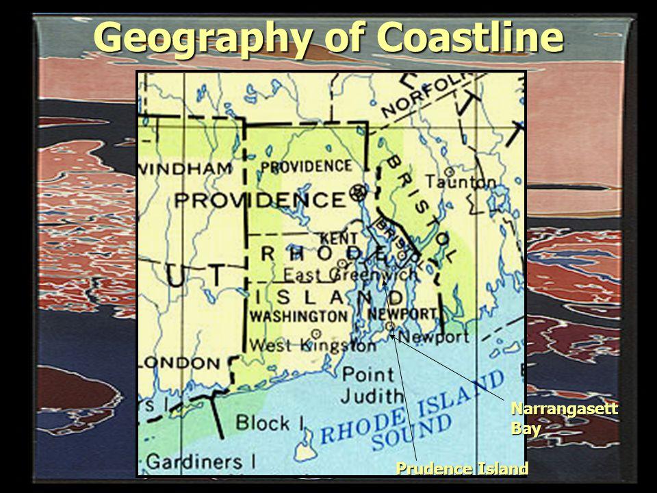Geography of Coastline Narrangasett Bay Prudence Island