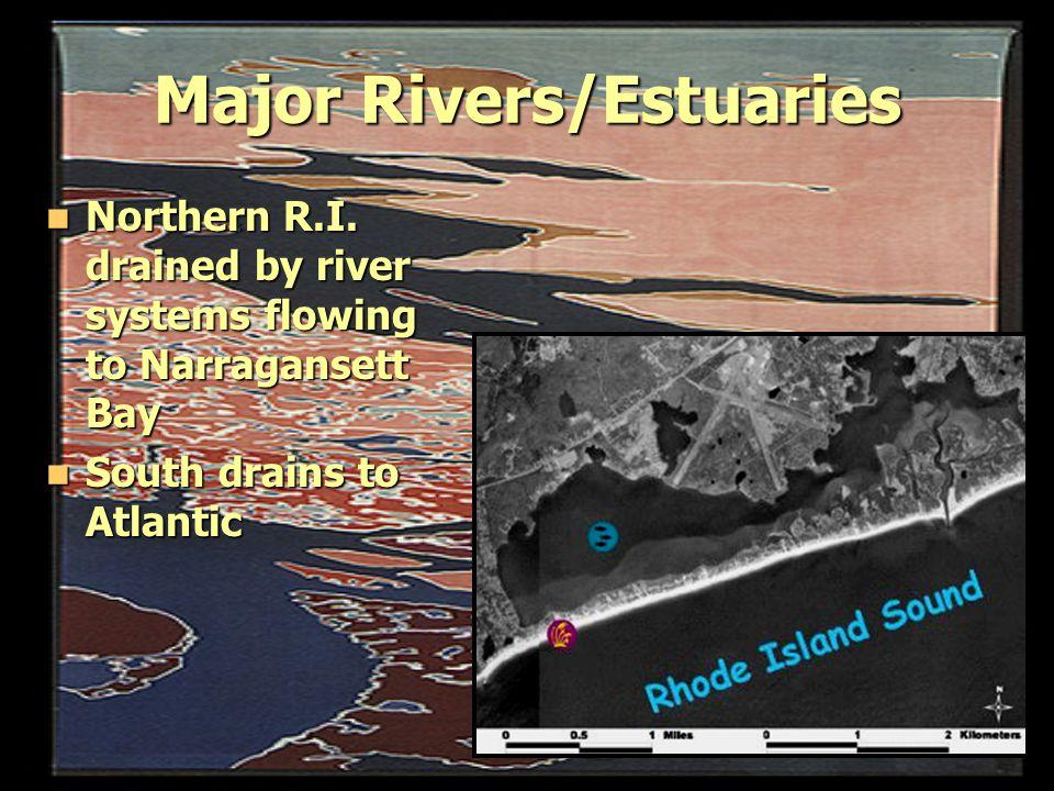 Major Rivers/Estuaries Northern R.I.