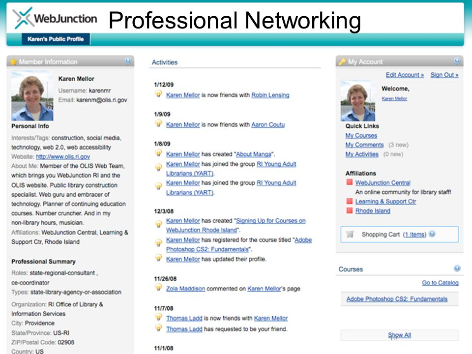19 Professional Networking