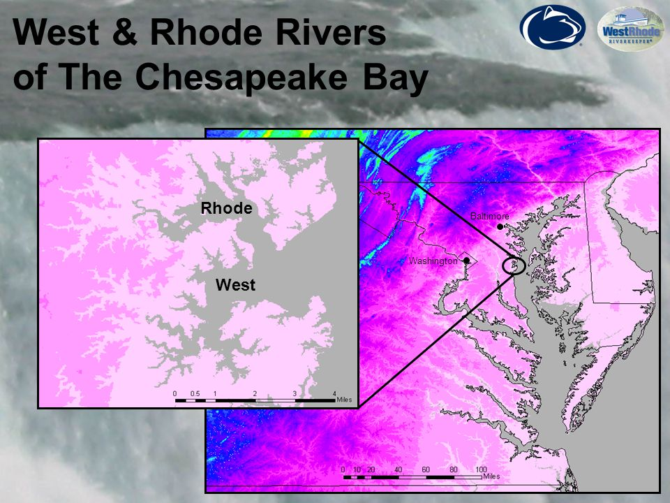 4 West & Rhode Rivers of The Chesapeake Bay Rhode West Washington Baltimore