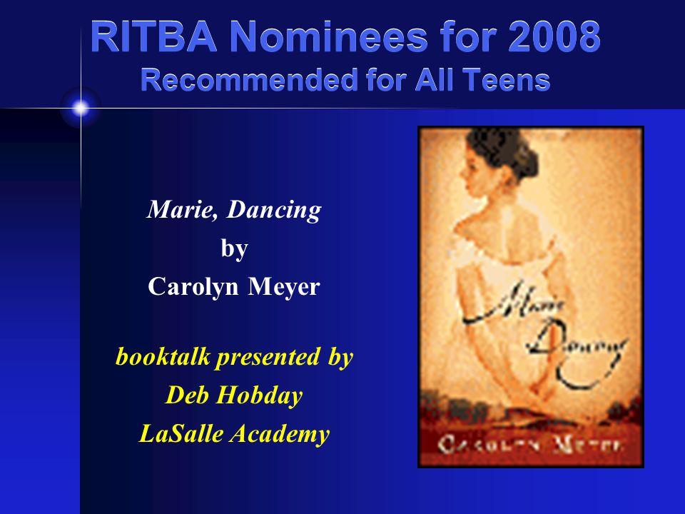 RITBA Nominees for 2008 Recommended for All Teens Lush By Natasha Friend
