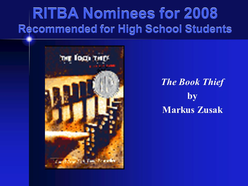 RITBA Nominees for 2008 Recommended for All Teens Sleeping Freshmen Never Lie by David Lubar booktalk presented by Robin Lensing Pawtucket PL