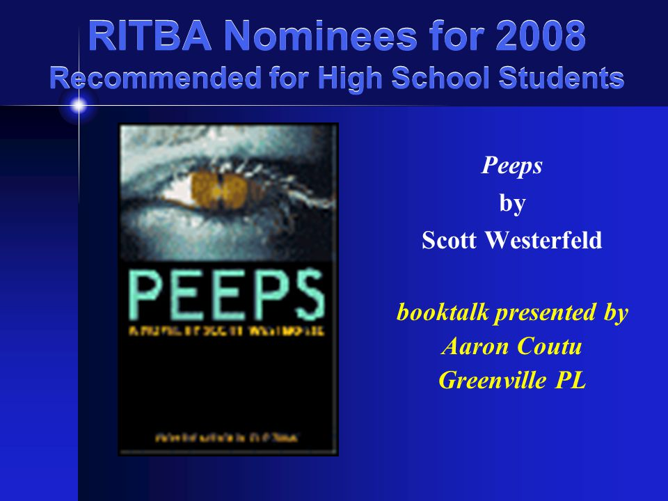 RITBA Nominees for 2008 Recommended for High School Students The Book Thief by Markus Zusak