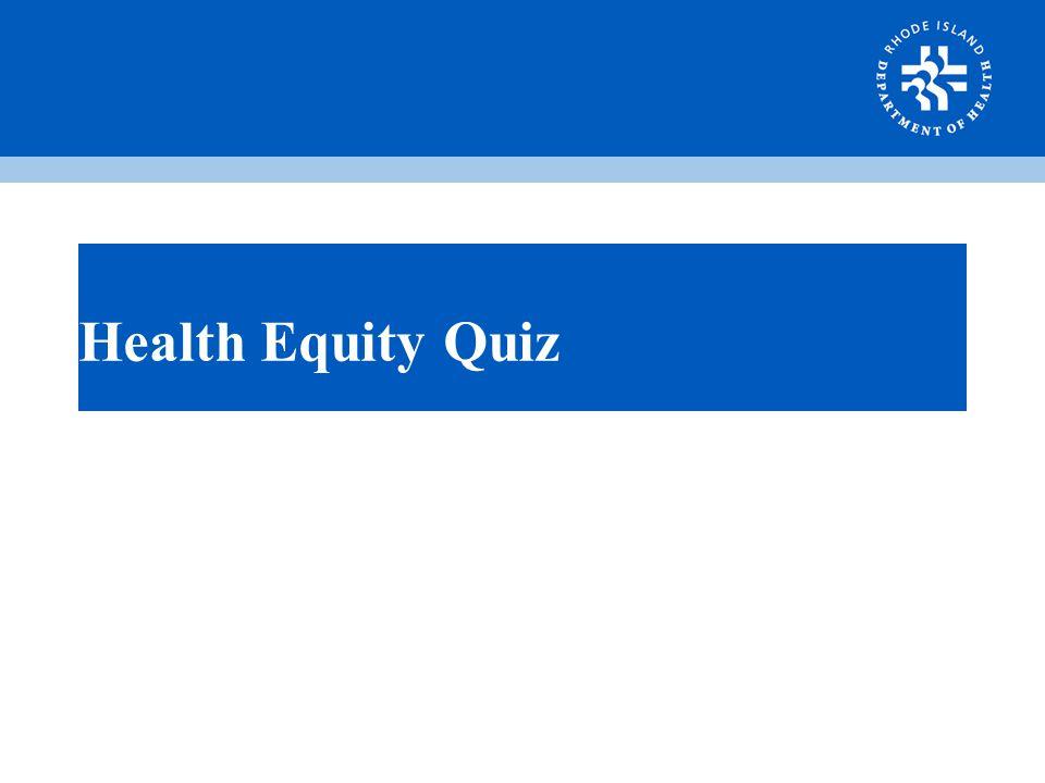 Health Equity Quiz