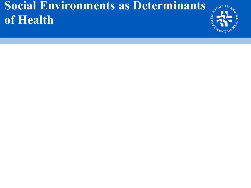 Social Environments as Determinants of Health