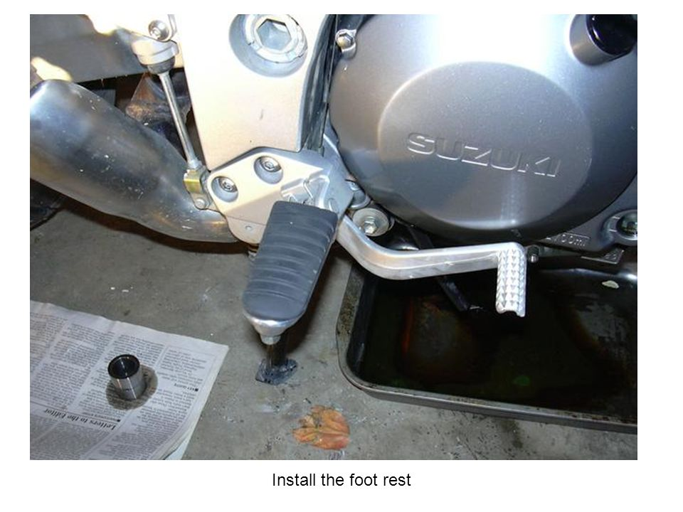 Install the foot rest
