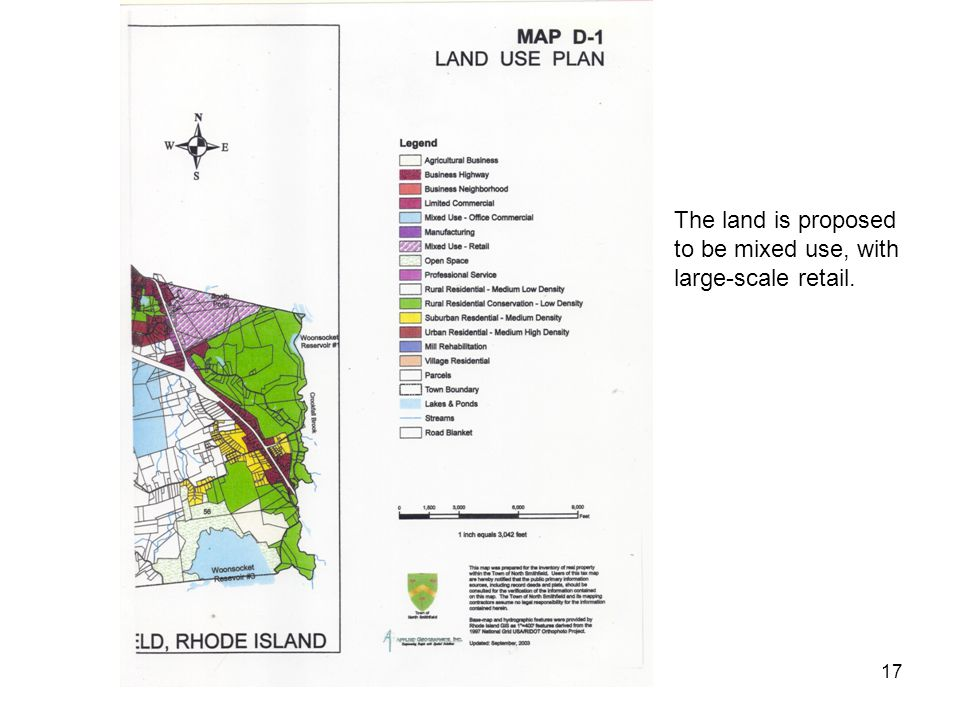 Covel & Associates, LLC17 The land is proposed to be mixed use, with large-scale retail.