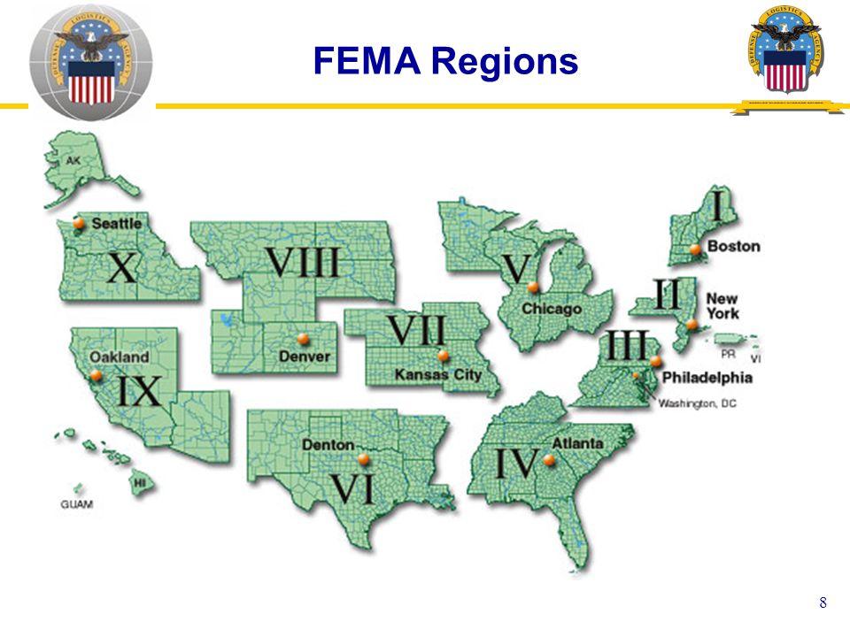 8 FEMA Regions