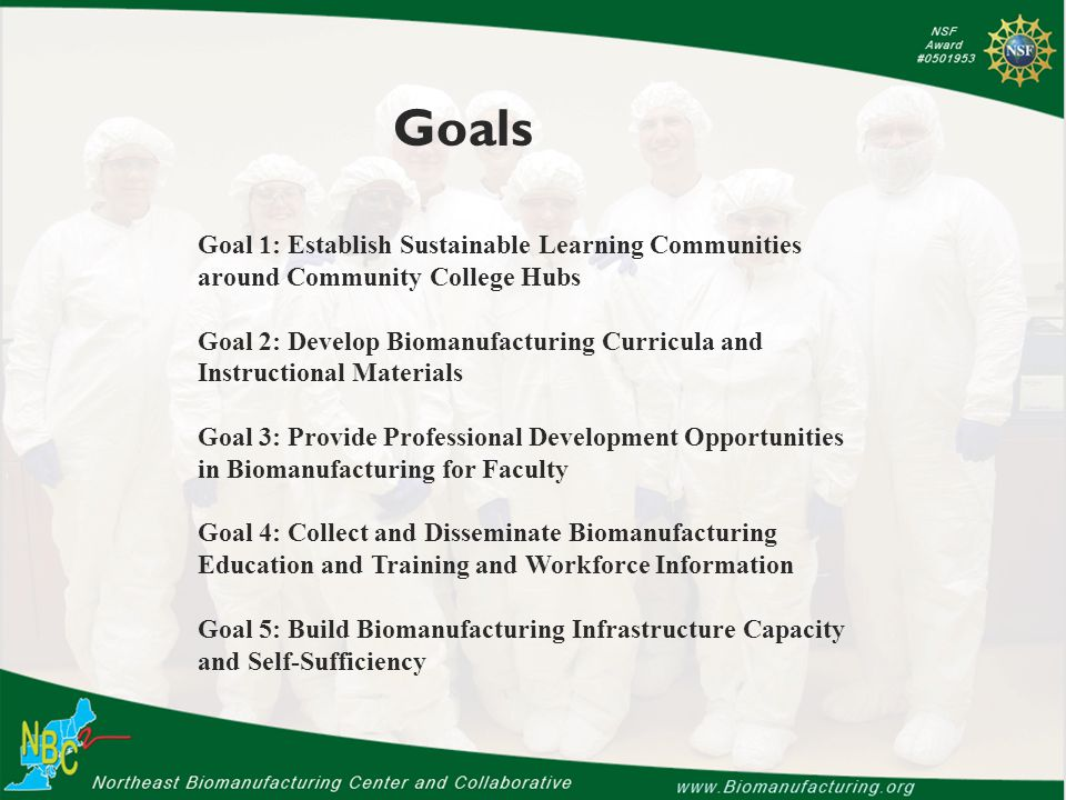 Goal 2 Our strategy has been to develop hands-on instructional materials to support ten biomanufacturing technician jobs.