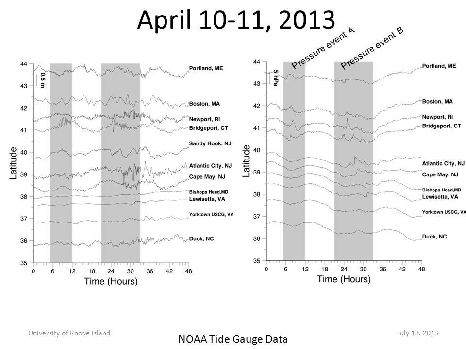 April 10-11, 2013 University of Rhode IslandJuly 18.