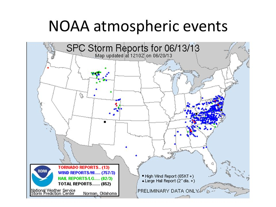 NOAA atmospheric events