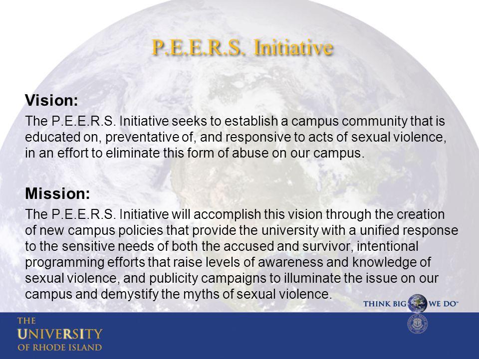 P.E.E.R.S. Initiative Vision: The P.E.E.R.S.