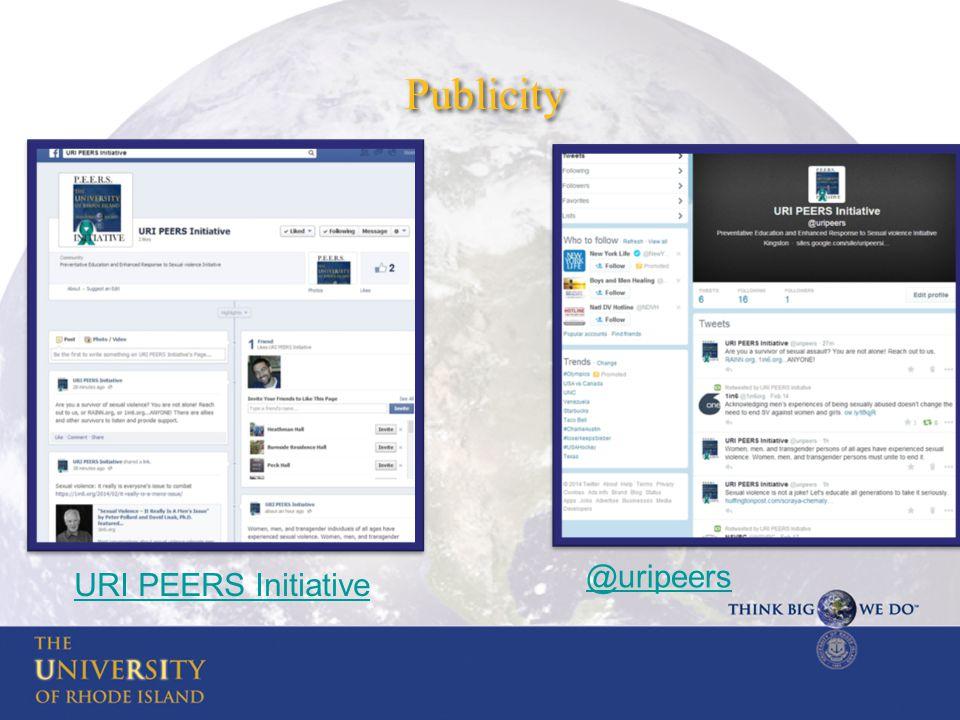 Publicity @uripeers URI PEERS Initiative