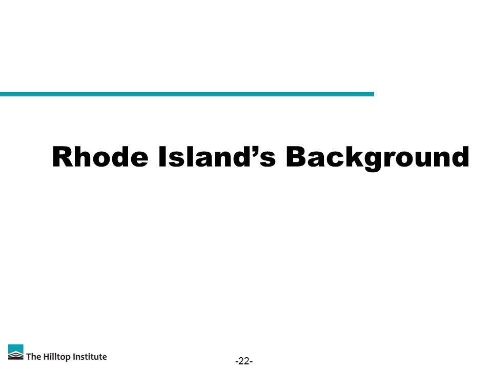 -22- Rhode Island's Background