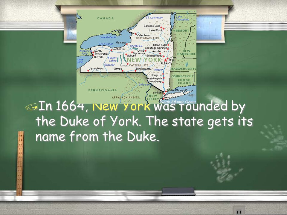 / New Jersey was founded by Lord Berkeley and Sir George Carteret in 1664.