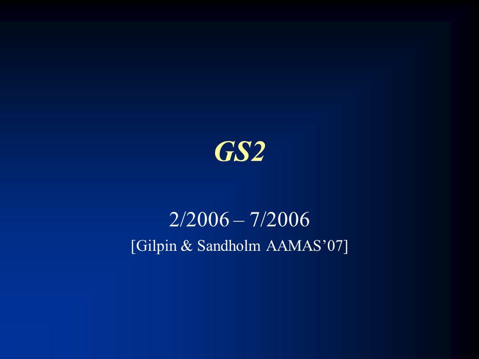 GS2 2/2006 – 7/2006 [Gilpin & Sandholm AAMAS'07]