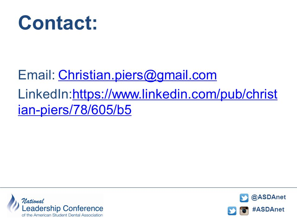#ASDAnet @ASDAnet Contact: Email: Christian.piers@gmail.comChristian.piers@gmail.com LinkedIn:https://www.linkedin.com/pub/christ ian-piers/78/605/b5https://www.linkedin.com/pub/christ ian-piers/78/605/b5