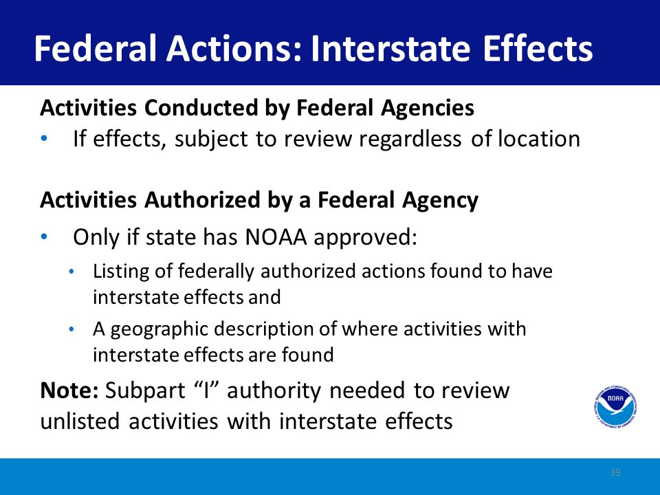 Do activities performed by federal agencies have to be listed by a state in order to be reviewed.