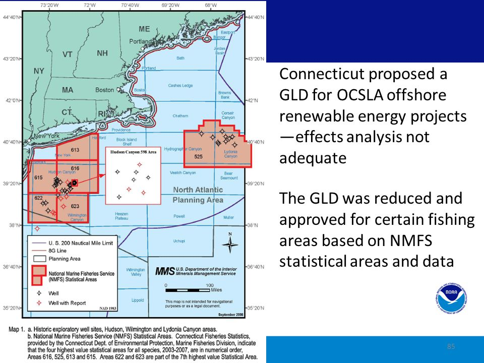 Ocean Policy Executive Order 13547: Established ocean policy and National Ocean Council (NOC) States play a role in developing regional CMS Plans Regional CMS Plans 86