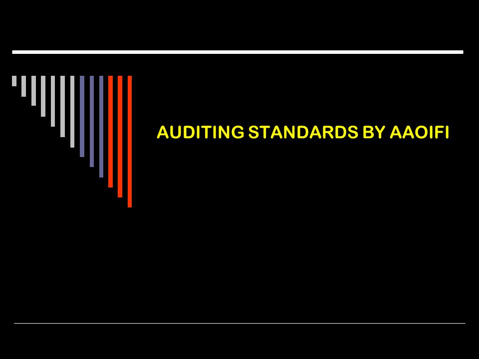 AUDITING STANDARDS BY AAOIFI