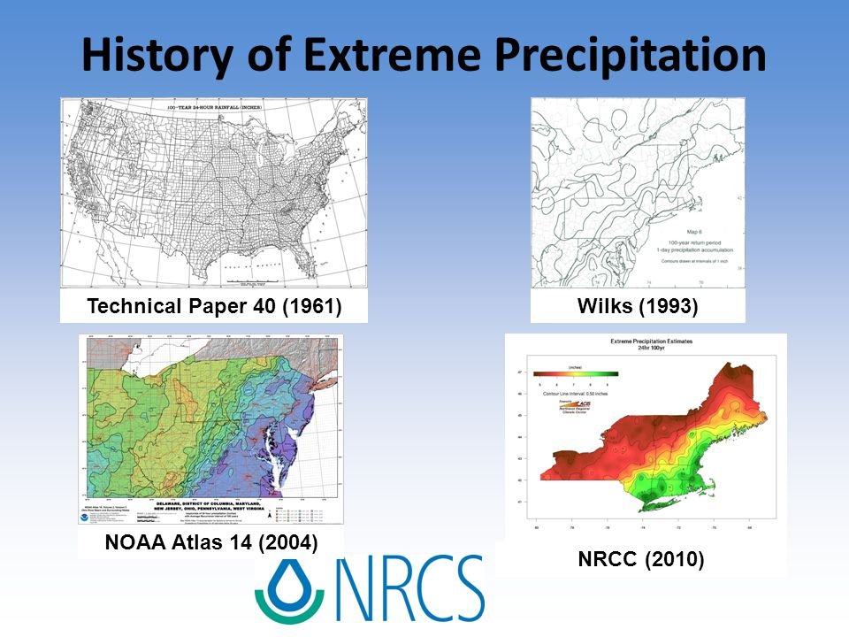 Using NRCC data with WinTR-55 Using County Data Typical method using representative county precipitation values developed using the NRCC data and regionalized rainfall distributions Using Site Specific Data Each frequency storm is run separately Two Methods