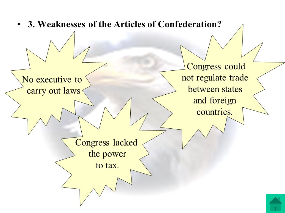 Section 1: A Loose Confederation 1.constitution- a document that sets out the law, principles, organization, and processes of a government 2.
