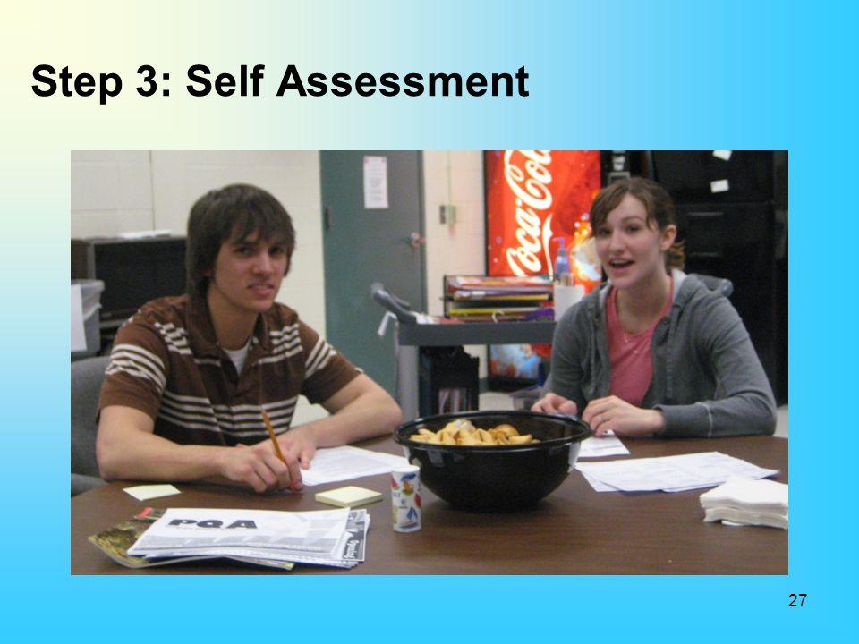 Step 3: Self Assessment 27