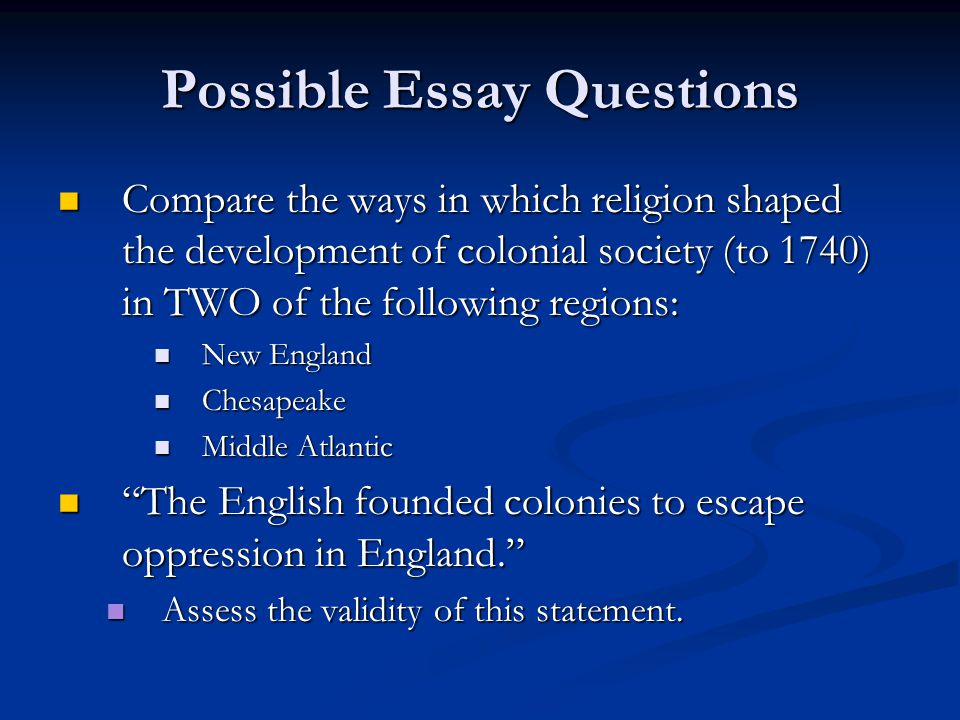 Geography was the primary factor in shaping the development of the British colonies in North America Geography was the primary factor in shaping the development of the British colonies in North America Assess the validity of this statement for the 1600's.