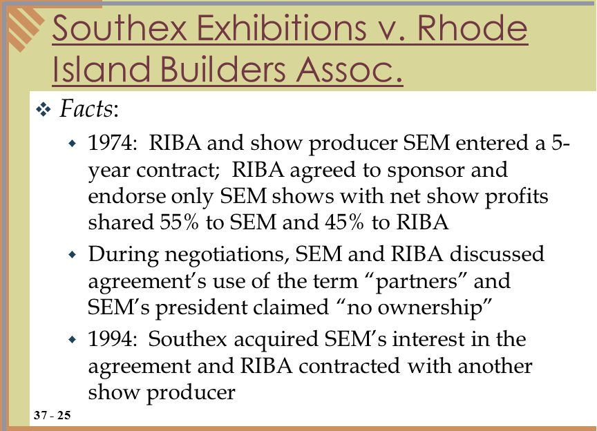 Southex Exhibitions v.Rhode Island Builders Assoc.