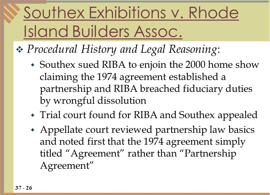 Southex Exhibitions v. Rhode Island Builders Assoc.