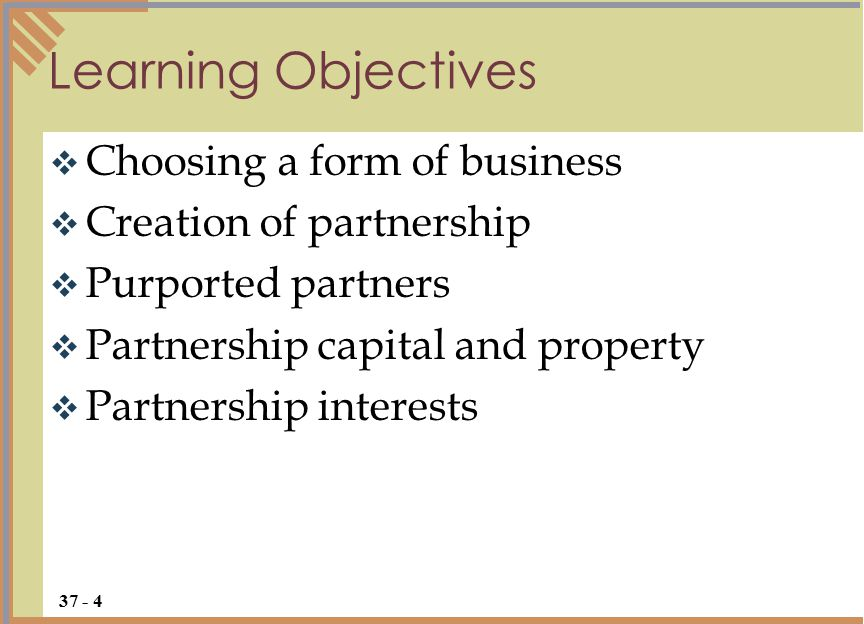  Choosing a form of business is important because the business owner's liability and control of the business vary greatly among the many forms of business Overview 37 - 5 What you choose depends on where you want to go