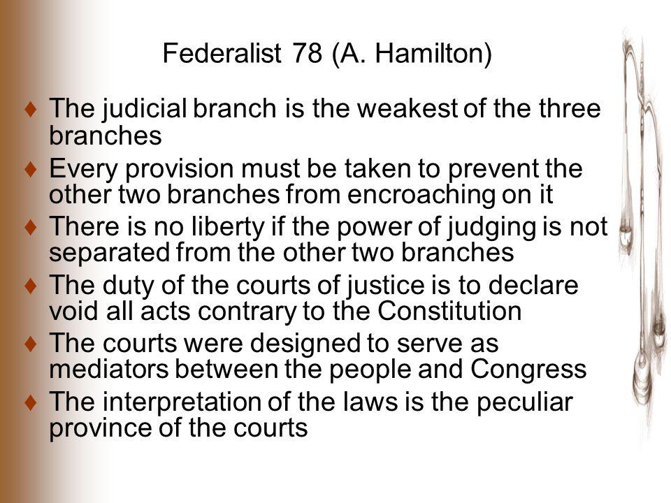 Federalist 78 (A.
