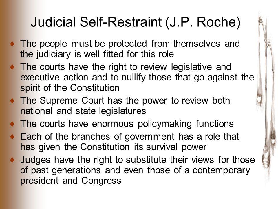 Judicial Self-Restraint (J.P.