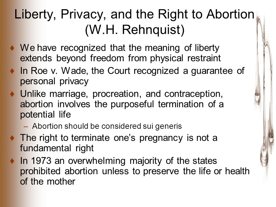 Liberty, Privacy, and the Right to Abortion (W.H.