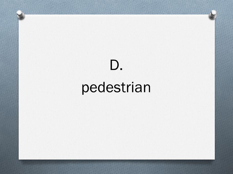 D. pedestrian