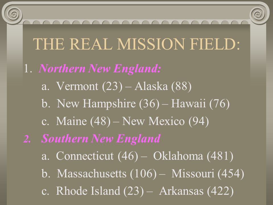 THE REAL MISSION FIELD: David T.