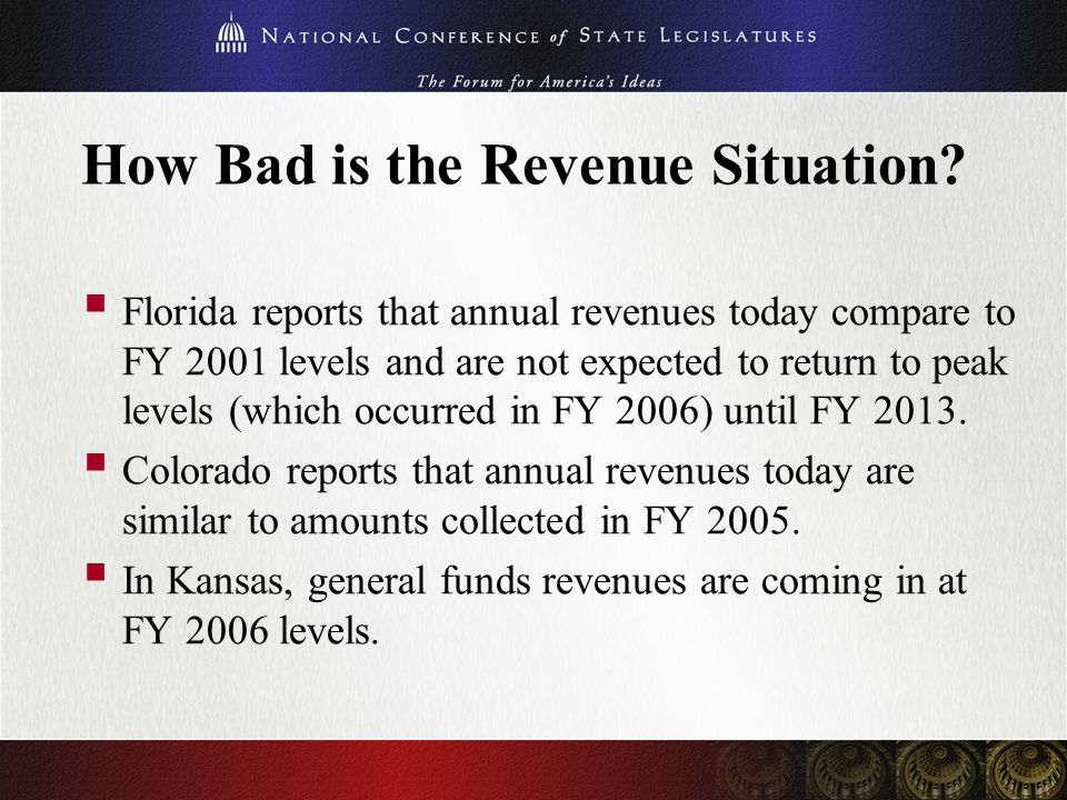 Conclusion  The states are facing a cliff once ARRA funding ends.